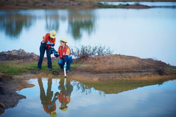 BHP Water Sampling onsite