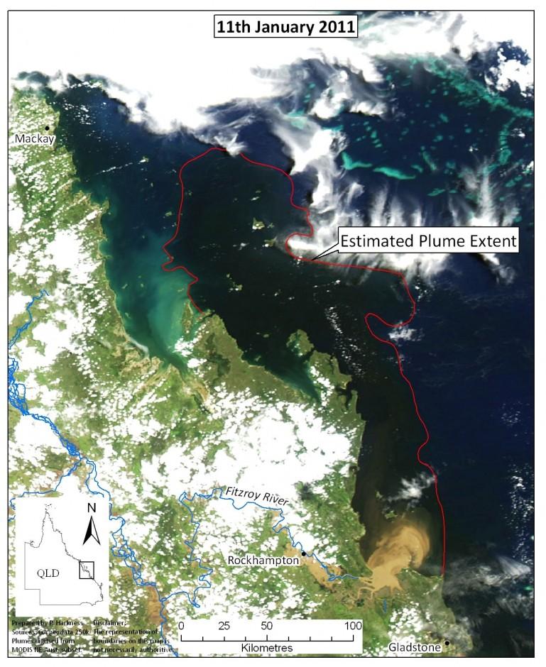 2011 Plume extent