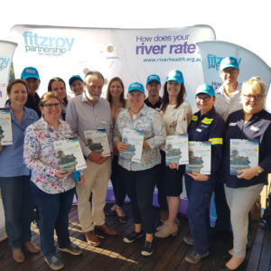 Fitzroy Partnership for River Health Partners at the launch of the 2017-2108 waterway health report card.